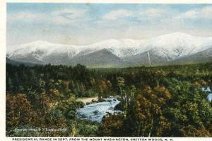 NH - Bretton Woods - Presidential Range in September from The Mt. Washington ...