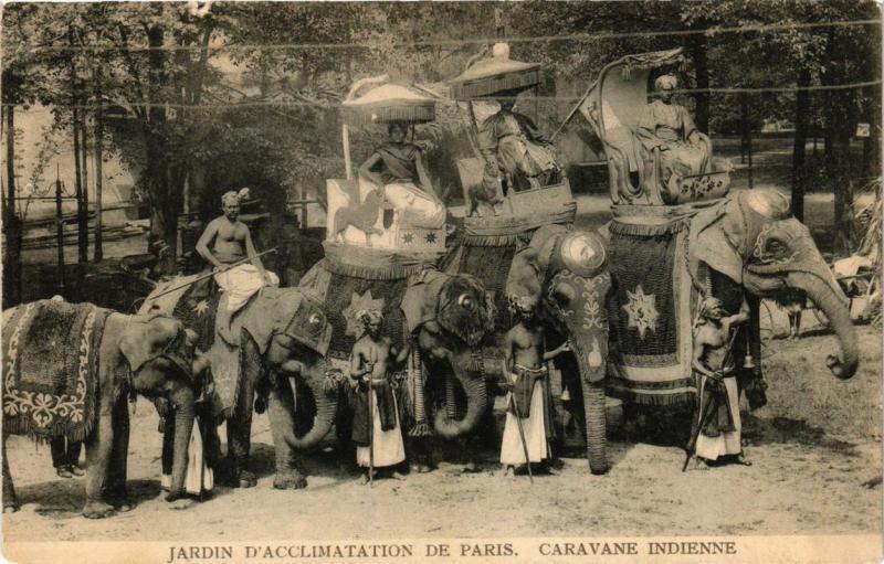 CPA AK PARIS 16e Jardin d'Acclimatation Caravane Indienne (700006)