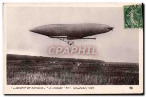 Old Postcard Jet Aviation Zeppelin Airship The Lebaudy The jauen 1904
