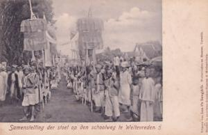 Weltevreden Samenstelling Festival Procession Indonesia Antique Postcard
