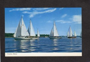ME Sailboats Racing Racers Retired Skippers Race Castine Maine Postcard