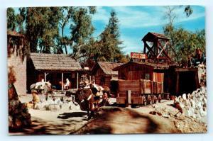 Postcard CA Ghost Town Knott's Berry Farm Prospectors at Gold Mine L05