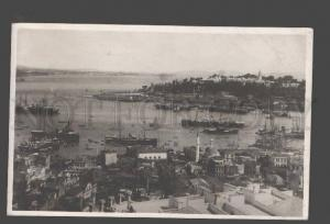092242 TURKEY Constantinople harbour view vintage photo PC
