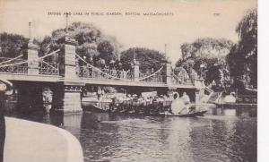 Bridge & Lake In Public Garden, Boston, Massachusetts, 10-20s