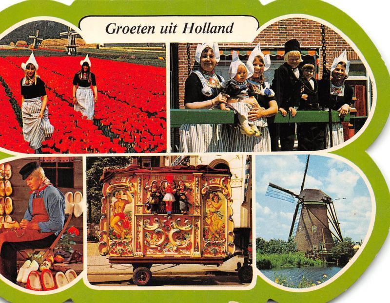 Groeten Uit Holland.Netherlands Groeten Uit Holland Flower Field Traditional Costumes
