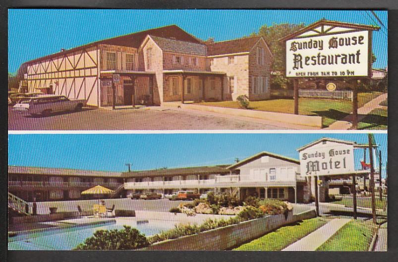 Sunday House Restaurant Fredericksburg Tx Post Card Ppc781 Hippostcard