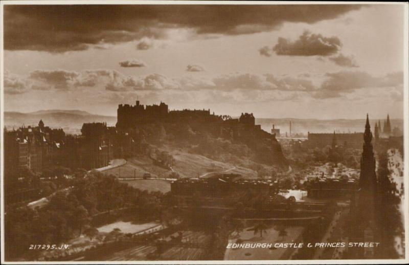 Edinburgh Castle & Princess Street  UK