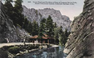 Trout Pool And Pavilion At Foot Of Famous Seven Falls, South Cheyenne Canon, ...