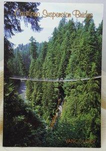 Capilano Suspension Bridge Vancouver Canada Vintage Postcard