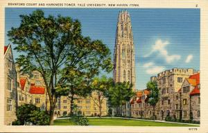 CT - New Haven - Yale University. Harkness Tower and Branford Court