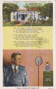 Will Rogers Birthplace Oklahoma City Oklahoma 1950