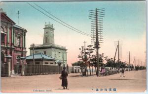 YOKAHAMA, Japan    BUND STREET SCENE   c1910s   Handcolored   Postcard