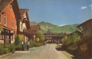 Postcard Main Street Challenger Inn Sun Valley Idaho