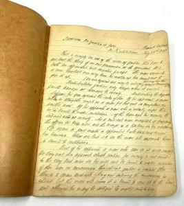 Gorgeous manuscript handwritten notes Theologica Moralis Rev Richard Boland 1897