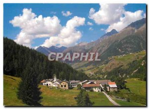 Modern Postcard On In Unterengadin Ardez mit Guarda and Piz Linard