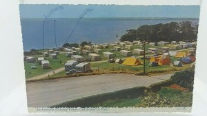 Vintage Postcard Auchenlarie Holiday Farm Caravan & Camp Site Gatehouse of Fleet