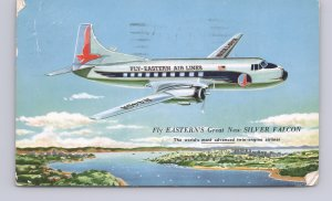 Aviation-Fly Eastern's Great New Silver Falcon-Airline Issued-1960