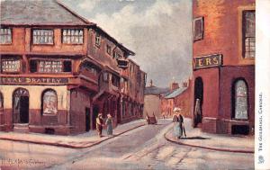 Cumbria, The Guildhall, Carlisle, signed Oilette illustration 1904