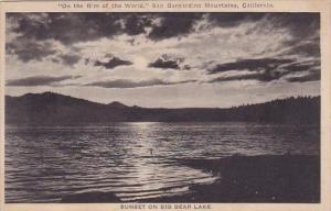 Sunset On Big Bear Lake On The Rim Of The World San Dernardino Mountains Cali...