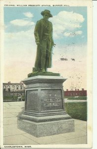 Charlestown, Mass., Colonel William Prescott Statue, Bunker Hill