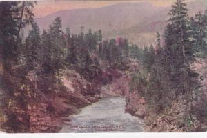 Scenic view of Down Cascade Canon, Cascade City, B.C., Canada, 00-10s