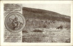Princeton MA Home of Lucy Keys Lost Child of Wachusett Mountain Postcard