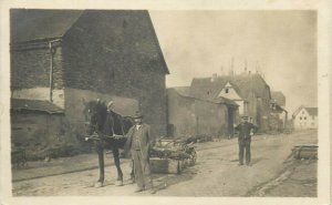 Early real photo postcard to identify social history horse