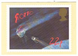 UK Halley´s Comet Stamp Postcard 1986 , 22p