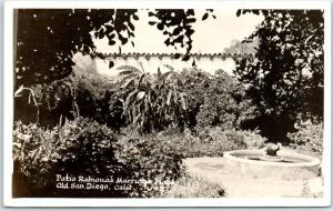 San Diego CA Real Photo RPPC Postcard Patio, Ramona's Marriage Place Old Town
