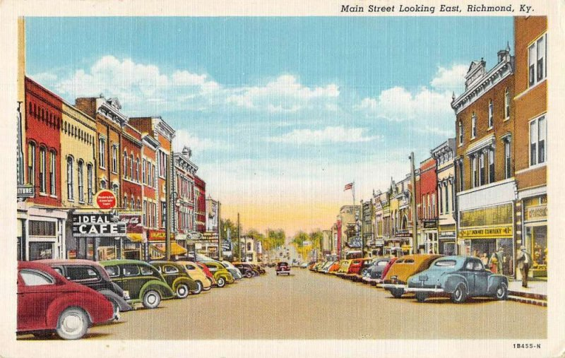 Richmond Kentucky Main Street Looking East Vintage Postcard AA39928