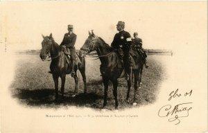 CPA Manoeuvres de l'Est Generaux de Negrier et Lanes (346793)