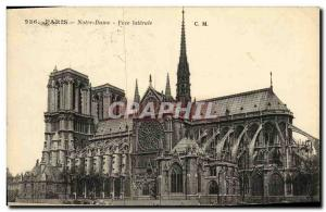 Old Postcard Paris Notre Dame Face Lateral