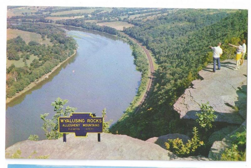 PA Wyalusing Rocks Susquehanna River Lookout (4 Postcards)