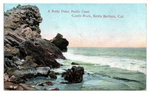 1909 Castle Rock, Santa Barbara, CA Postcard *5N14