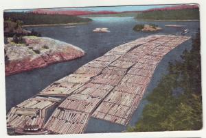 P766 1972 logging log raft, tug boats deception pass washington state used