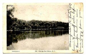 NY - Elmira. Eldridge Park, Lake Scene