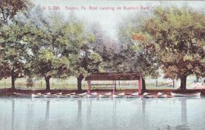 Boat Landing On Bushkill Park, Easton, Pennsylvania, 1900-1910s