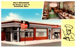 Massachusetts  Greenfield ,  Bill's Restaurant