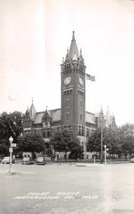 Manchester Iowa~US Flag @ Courthouse~To Think I'd Ever See This Place! RPPC 1960
