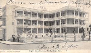 Hot Springs AR 1906 Sigler 3-Story Apts~Autograph~Hoosier Mfg Co~New Castle IN