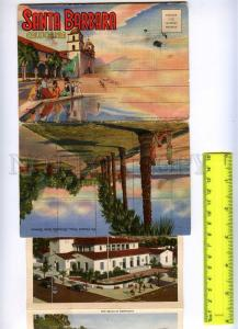 202178 USA CA Santa Barbara Vintage set of 18 views in cover