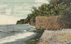 ERIE , Pennsylvania , 1909 ; Beach at 4 Mile Creek , Lake Erie