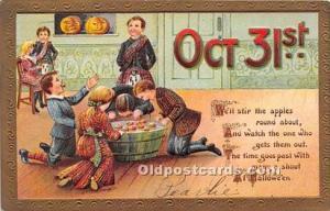 Halloween Postcard Old Vintage Antique Postcard Post Card Postal Used Unknown