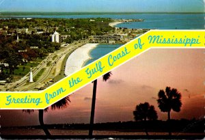 Mississippi Greetings From The Gulf Coast Looking East On Hwy 90 and West At ...