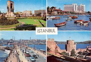 Turkey Istanbul Taksim Tarabya Galata Bridge Castles Auto Vintage Cars Boats