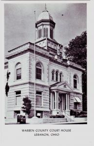Old LEBANON Ohio Postcard WARREN COUNTY COURT HOUSE