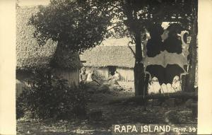 french polynesia, RAPA Island, Byrd Antarctic Expedition III (1939) RPPC (4)
