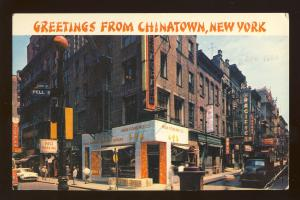 New York City, New York/NY Postcard, Chinatown, Restaurants, 1964!