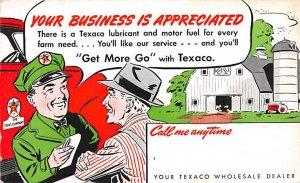 Texaco wholesale dealer Advertising Unused