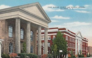 COLUMBIA , South Carolina , 30-40s ; First Baptist Church & Sunday School